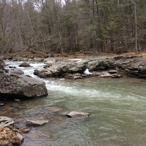 Natural Swimming Hole is on our Property.  Private.