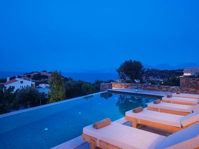 Photo for Beautiful stone villa with gracious and stylish design, pool & stunning views