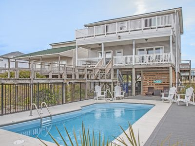 Photo for Summerchase: 5 Bed/3 Bath Oceanfront Home with Private Swimming Pool, 2 Decks and Covered Porch