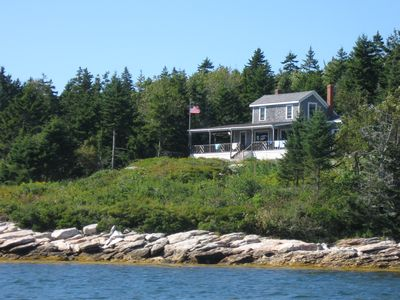 Photo for Charming cottage overlooking the islands of Muscongus Bay