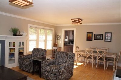 Warm and open floor plan with room for everyone