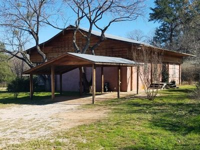 Photo for Energy efficient cob cabin on Lake LBJ!
