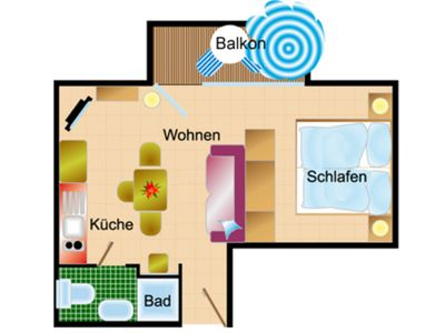 Photo for Apartment with balcony - Haus Scheel