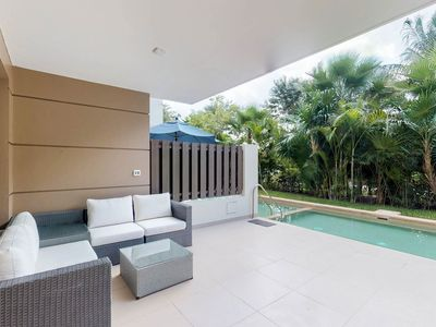 Photo for NEW LISTING! Stylish condo w/ shared pool & golf course - beach nearby
