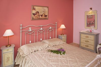 Master air conditioned bedroom with balcony