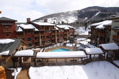 Heated outdoor pool with 2 hot tubs!