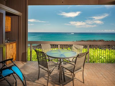Photo for Ocean's Edge Bliss w/Chic Kitchen, Lanai, Laundry, AC, TV, WiFi–Kanaloa at Kona 3102