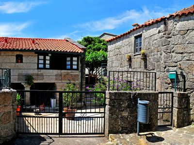 Photo for Rustic Stone House in the center of Soajo, T1 + 1, with patio and garden with garden