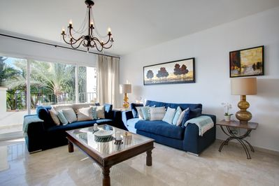 Spacious and Bright Living Space, which Looks out on to the Terrace