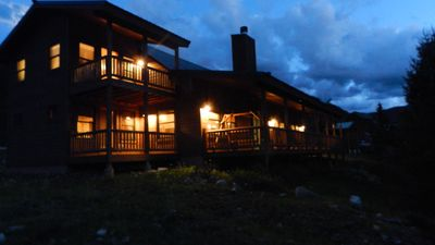 Photo for Stunning Red River Cabin on the River! Rocky Mountain First Class Luxury!