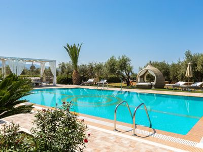 Photo for Full Privacy, 100m2 Outdoor Pool, Indoor Pool, close to the beach, Sea Views!