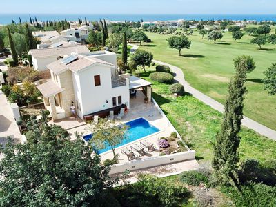 Photo for Stunning 3 Bedroom villa with Spacious Outside Pool Area and private pool