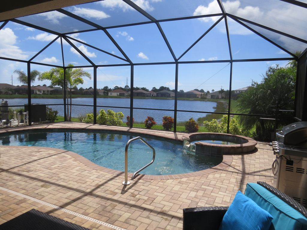 Gated community waterview heated pool and spa venice - Florida condo swimming pool rules ...