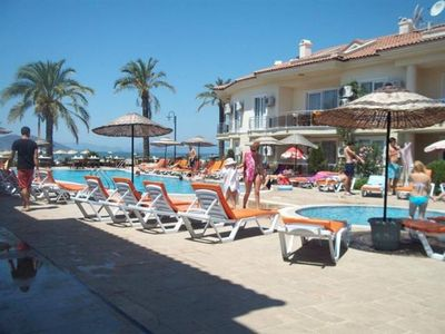 Photo for Fethiye Rental Apartment 1 + 1 On The Seafront With Private Beach. Daily Rent House.
