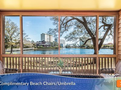 Photo for Peaceful Waterfront Retreat. Steps from the Beach. Close to Golf and Shopping too!