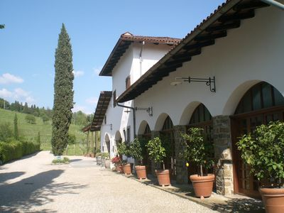 Photo for wonderful area in the middle of the vineyards where you can relax and taste wine