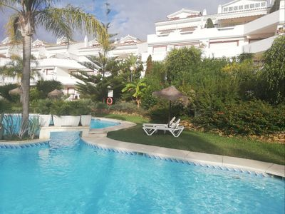 Photo for SUITUR VERY LUMINOUS APARTMENT WITH POOL IN THE BEST BEACH OF MARBELLA