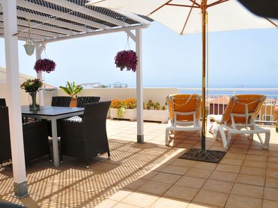 Photo for apartment with large roof terrace and panoramic sea views
