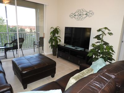 """55"""" HD TV in LR.  Disney fireworks can be viewed from balcony as well as from LR"""