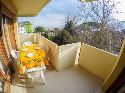 Photo for Apartment with Sea View - Beach Place and Sunbeds Included - Caorle