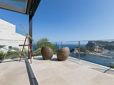 Photo for Exclusive modern villa with pool and amazing views in Port de Sóller