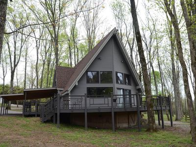 Photo for Large Cabin w/beautiful view, sleeps 8-12 near Nashville. Weddings/events welcom