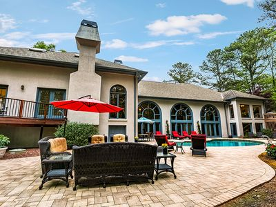 Photo for Spacious Lodge - Swimmng Pool and Dock on Lake Lanier