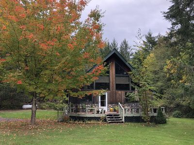 Photo for Charming Island Chalet, Big Kitchen, Relax, Quiet Forest Setting, Starry Nights
