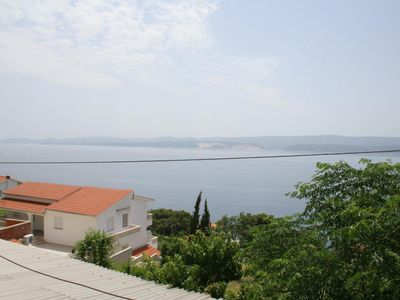 Photo for Three bedroom apartment with terrace and sea view Stanići (Omiš)