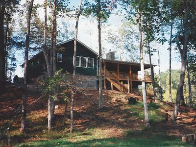 Photo for Franklin Area Stunning Creek front Cabin with View Sleeps 7