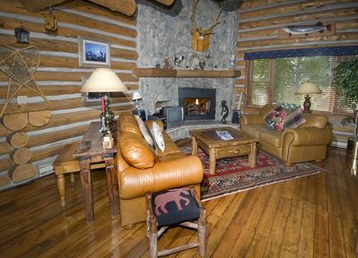 Create a memorable mountain escape in the comfort of a log cabin home>