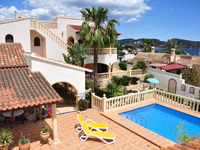 Photo for Spacious villa with fantastic sea views, private pool, large terraces