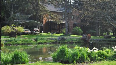 THE MANOR HOUSE AND GARDEN POND