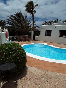 Photo for Very private large Villa With A sola heated pool Sat TV free WIFI.