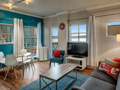 Photo for Post Alley Court Pacific Suite w Stunning Sound Views Adjacent to Pike Place Market! Steps to the Gum Wall! Free Parking!