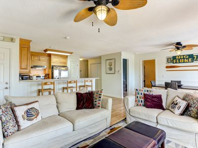 Photo for 4 bedroom 2 bath house sleeps 8.  Recently redecorated, PET FRIENDLY & linens provided.