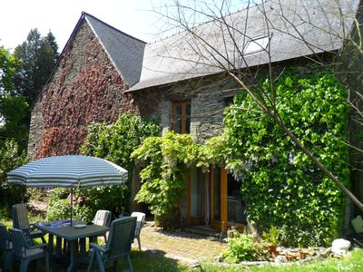 Photo for Near Josselin and Ploërmel, spacious, rural farmhouse, large, private gardens