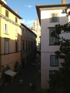 Photo for Central apartment in the historic center of Orvieto, terrace overlooking the Duomo