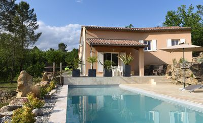 Photo for Ideal for family house on one level with private pool large plot