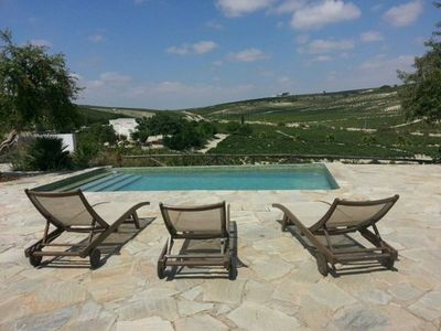 Photo for Vineyard farm in Jerez with private pool