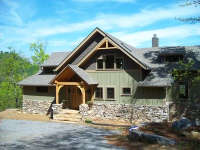 Photo for Stunning craftsman timber frame home in gated nature preserve close to Blk Mtn!!