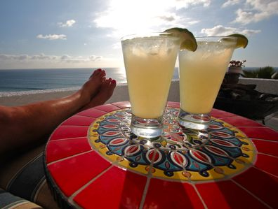 This is what Margarita's on our front deck looks like!!