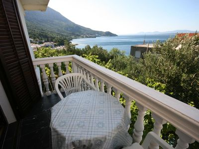 Photo for One bedroom apartment with balcony and sea view Igrane, Makarska (A-6840-a)