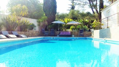 Photo for Luxury villa at the foot of pine forests with garden pool and not overlooked