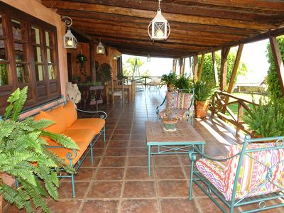 Photo for Country house with pool and sea view, very quiet location, max 8 persons