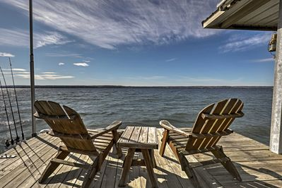 Kick back and relax on the private dock.