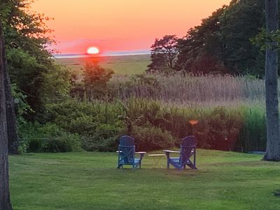 Photo for Aug 15th wk open New Outdoor Shower, Backyd Sunsets, Kayaks, Bikes, Beach trails