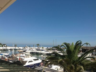 Photo for Front Line Apartment with Views over the Marina of Puerto Cabopino