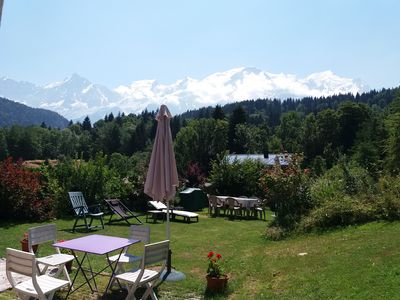 Photo for Renovated farmhouse with stunning views facing Mt Blanc