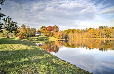 Photo for Private 30 Acre Estate with its own 6 Acre Lake and one lane bowling alley!